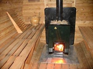Печка на дровах для русской бани