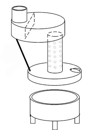 Устройство печи на отработанном масле простое до безобразия.  Две круглых или квадратных камеры, соединённых между.