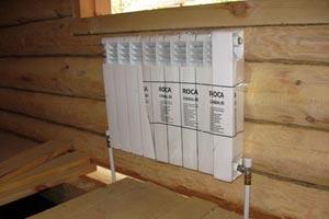 Смонтированное отопление в частном доме