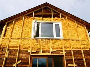 Фасад дома утепленного минватой