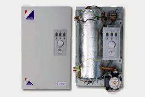 Двухконтурный котел для отопления и горячей воды, работающий на электричестве