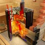 Дровяная печь для бани с баком для воды