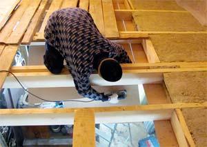 Утепление пола и потолка деревянного дома