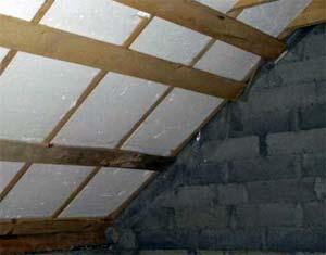 Утепление потолка в бане пенопластом