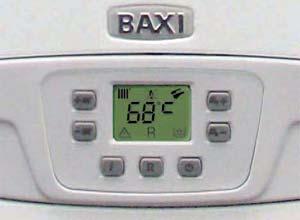 котел Baxi Fourtech с жидкокристаллическим дисплеем