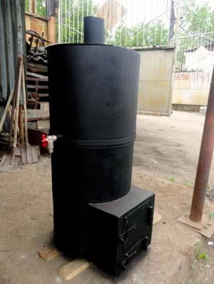 Печь из металлической трубы
