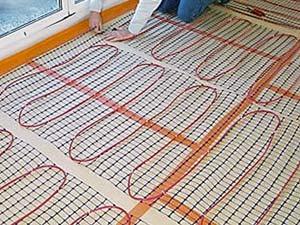 Расположение электрических матов для теплого пола