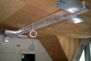 Смонтированная система воздушного отопления