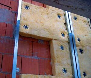 Утепление кирпичной стены минеральной ватой