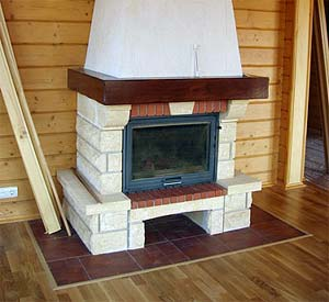 Устройство камина в деревянном доме