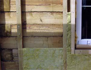 Утепление дома из бруса с помощью минваты