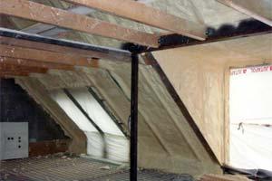 Утепление чердака крыши