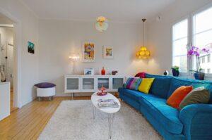 Модное оформление гостиной: скандинавский стиль в пастельных тонах